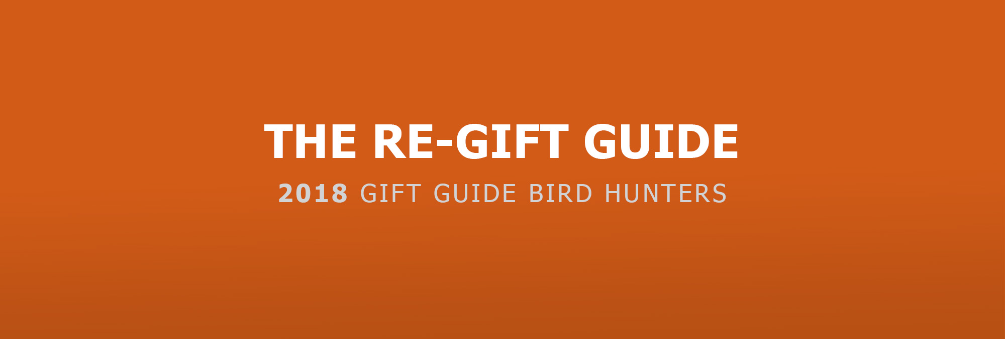 RE-Gift Guide