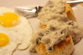Birdheart Gravy and Biscuits